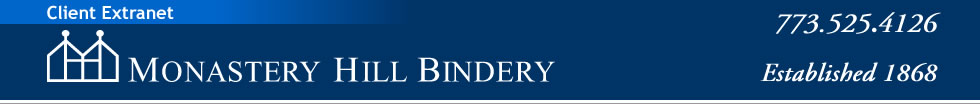 Monastery Hill Bindery - Established 1868 - Call us at 773.525.4126